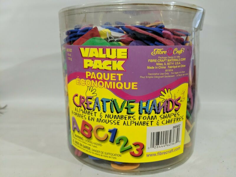 Alphabet & Numbers Craft Foam Shapes Creative Hands Bucket Tub Value Pack - New