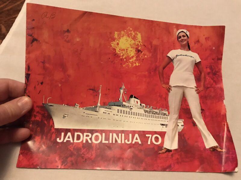 1970 Jadrolinija Vintage  Cruise Ship Sales Brochure