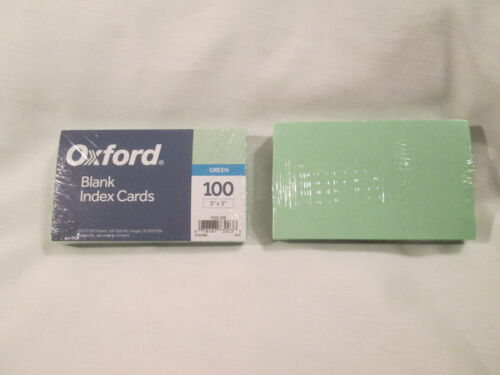 "Oxford Blank 3"" x 5"" Green Index Cards  -  200 count"