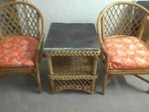 Two cane chairs & table Cambooya Toowoomba Surrounds Preview
