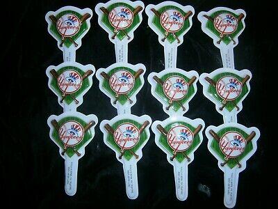 12 YANKEES New York Baseball MLB CUPCAKE Picks TOPPER Decorations CAKE Party](Sports Cupcake Picks)