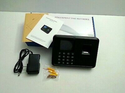 Employee Biometric Fingerprint Attendance Time Clock Check In Out Payroll Device
