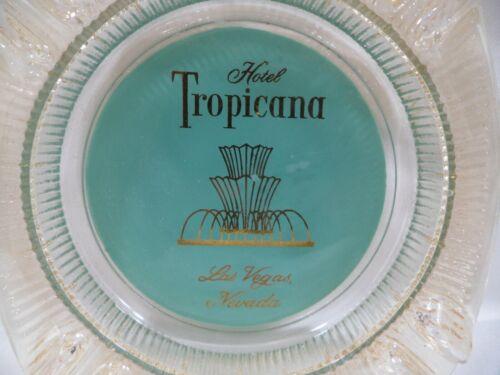 Vintage Tropicana Hotel Casino Las Vegas Glass Ashtray Rare Style Ridged Ribbon