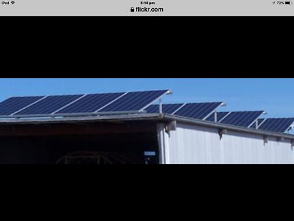 5kw Inverter & 16 Solar Panels / rails, 2013, quality German made