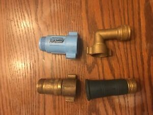RV water connection parts