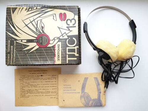 Headphones electronica TDS 13-2 Vintage soviet USSR - Ultra RARE! WALKMAN STYLE