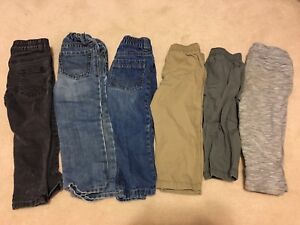 6 pairs of toddler pants size 2T-3T