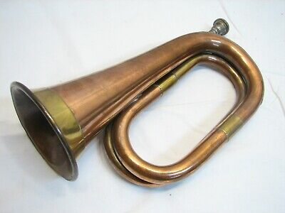 Nautical//Coaching Copper Brass Flat Signal //Hunting Horn Working //Plays-Coach