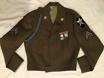 US Army 2nd Infantry Ike Jacket with Patches and Medals * WWII or Korean ?