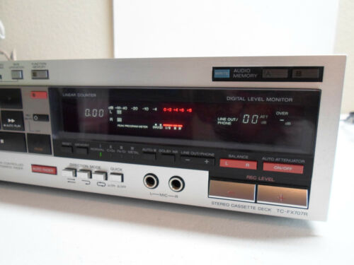SONY TC-FX707R STEREO CASSETTE DECK SILVER (((WORKS!)))