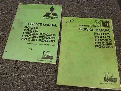 Mitsubishi Fgc10 Fgc15 Fgc20 Fgc25 Fgc30 Forklift Shop Service Repair Manual