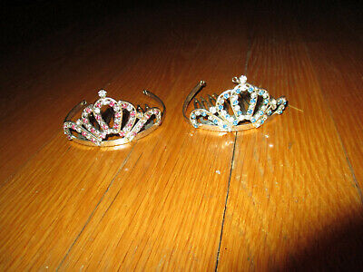 Disney Princess Hair (2 Disney Parks Bippity Bobbity Boutique Princess Jeweled Hair Tiaras)