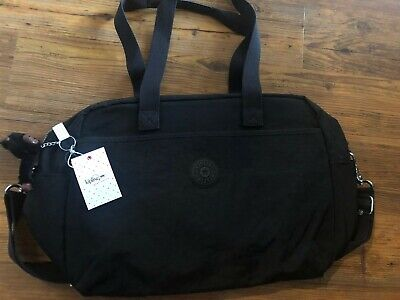Kipling Popper Baby Diaper Travel Monkey Black Bag w/ Changing Pad New With Tags
