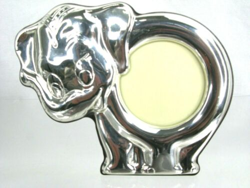 Thistle Bee Sterling 925 Silver Small Elephant Baby Photo Frame