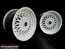 "17"" WHITE BBS RS STYLE WHEELS FOR 4x100 & 5X100! NON STAGGERED!!! Hurstville Hurstville Area Preview"