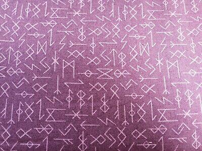 Cotton Fabric Fat Quarter quilting Viking Adventures lewis and irene Rune stones