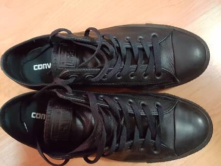 Converse -Black Leather - Allstar Chuck Taylor