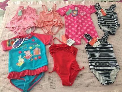 Girls Swimming Costumes Sizes 1 and 2 ~Brand New With Tags ~