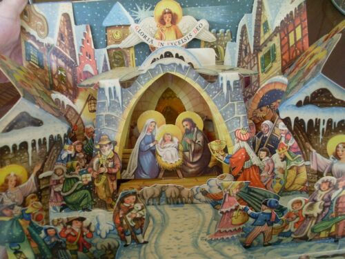 Vintage Nativity, SILENT NIGHT  Pop Up  Kubasta, Vojtech, Czechoslovakia