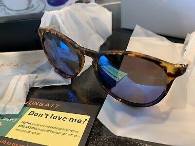 SUNGAIT Classic Square Frame Sunglasses Retro Style for Men Women (Tortoise (Sungait Sunglasses)