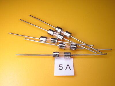 5 Stück -  Picofuse Sicherung , 5A 250V axial ,schnell, 3,6 x 10mm, Glaszylinder