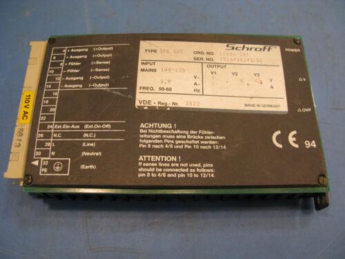 Schroff Power Supply SPK 105