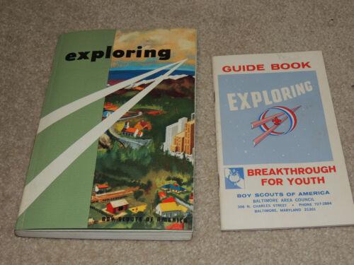 Vintage 1958 Boys Scouts of America Exploring Book & 1955 Exploring Manual