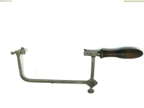"ANTIQUE  ADJUSTABLE JEWELRY/COPING SAW  6"" x 3""  N R P  GERMANY + Marks"