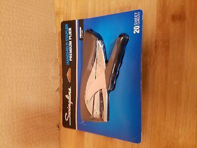 Swingline Premium Hand Stapler Packaging Plier Style Soft Feel Grip