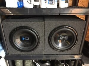 """2 x 10"""" subwoofers"""