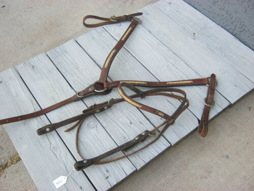 Braided Rawhide Accent Browband Headstall and Breast Collar 23788