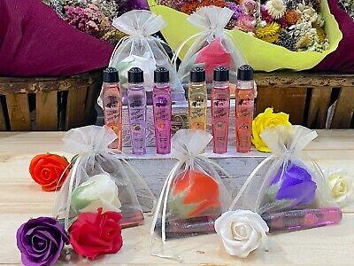 Detalles Bodas comuniones bautizo 20 brillos de labios con rosa jabón perfumada