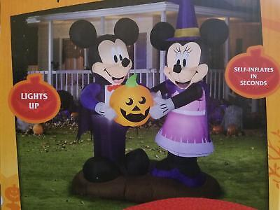 5' Inflatable Disney Mickey Mouse and Minnie Mouse Pumpkin Halloween - Mickey Halloween Inflatable