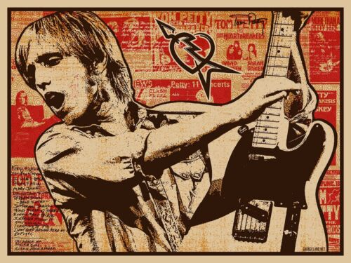 2017 TOM PETTY AND THE HEARTBREAKERS FENDER FAIREY ART PRINT POSTER AP/200 OBEY
