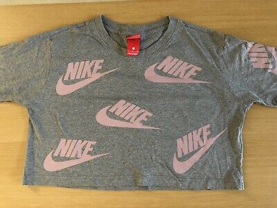 Grey and Pink Nike Crop Top. Used but no signs of  wear