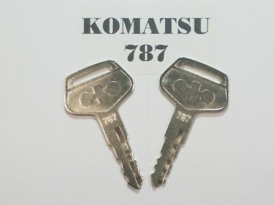 2 Komatsu Equipment Keys Komatsu Master Key Excavator Dozer Loader 787
