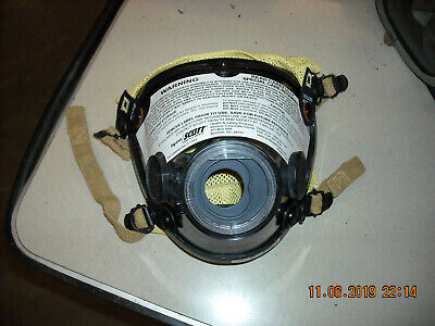 New Scott Av-2000 Cbrn Gray Nose Cup Kev Harness Firefighter Scba Mask Large