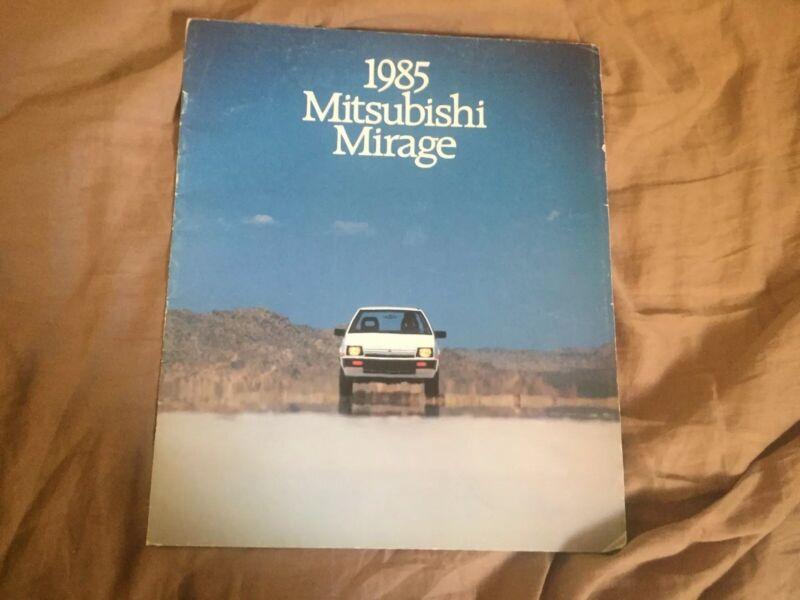 1985 Mitsubishi Mirage USA Market Color Brochure Catalog Prospekt