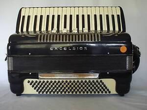 Piano Accordion Excelsior 120 Bass Model 254. Reservoir Darebin Area Preview