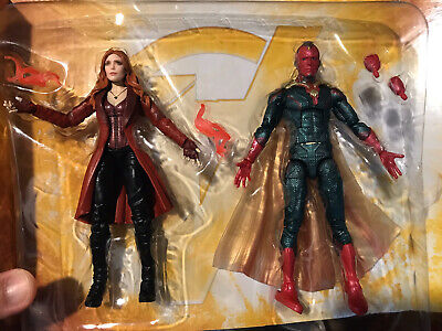 "Marvel Legends 6"" Scarlet Witch + Vision (in Plastic) Avengers Infinity War MCU"