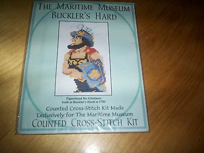 counted cross stitch kit maritime museum bucklers yard gladiator figurehead