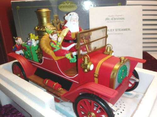 Mr Christmas~ Musical Animated Smokes~Stanley Steamer Santa Car~13 Songs (video)