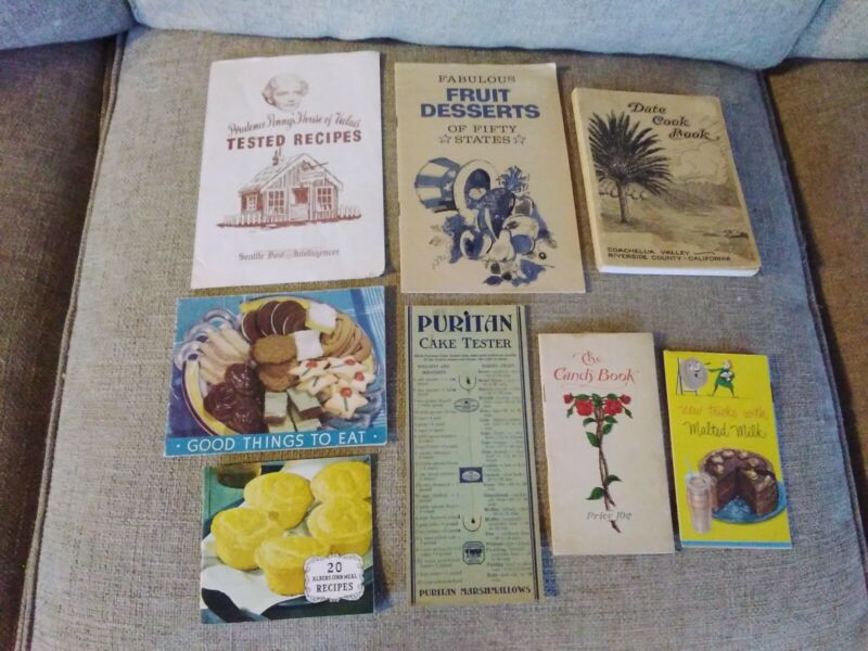 Vintage Cook Booklets Assorted Lot of 8 All In Good Condition