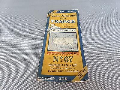 Card Michelin #67 Nantes-Poitiers 1925/Collector Bibendum Vintage