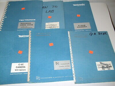 Lot 6pcs Vintage Tektronix Oscilloscope Camera System Instruction Manual Box34