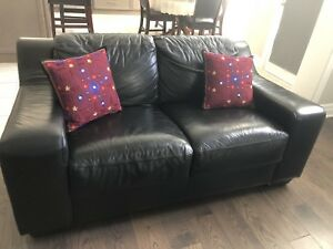 Pure leather Love seat sofa for sale
