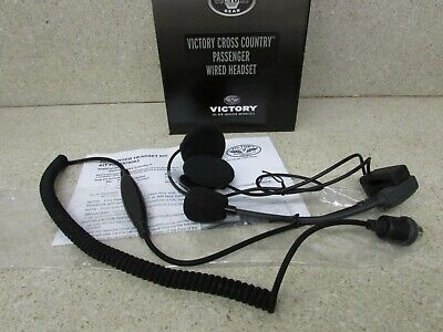 NEW 10-13 VICTORY CROSS COUNTRY OEM PASSENGER HELMET WIRED HEADSET 2878063