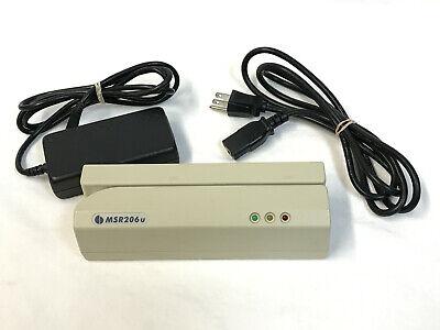 Uic Msr206u-3hlr Msr206 Magnetic Stripe Credit Card Reader W Power Adapter