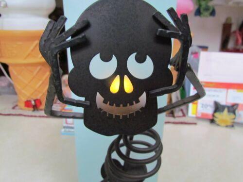 "PartyLite Halloween ""Bones"" Metal Skeleton Votive Tea Light Holder w/Glass in OB"
