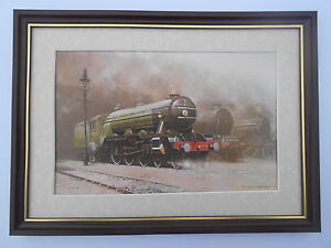David Shepherd Steam Train print 'The Flying Scotsman' FRAMED